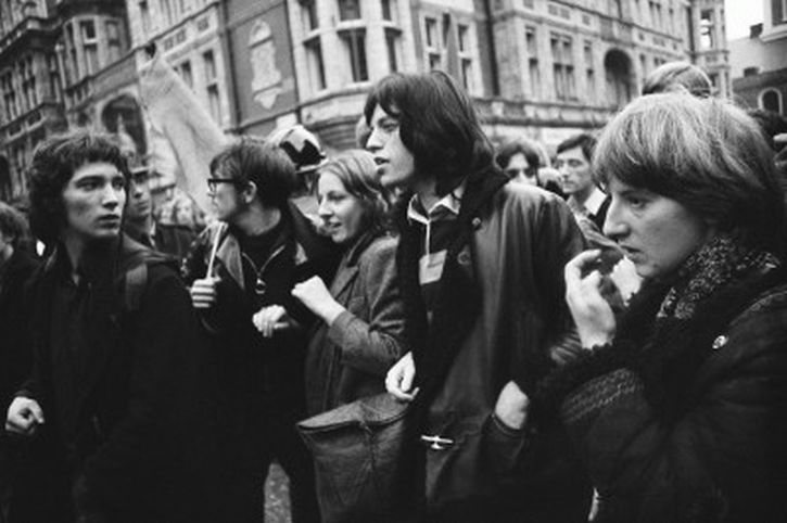 Mick Jagger on the March 1968 Grosvenor Square demonstration