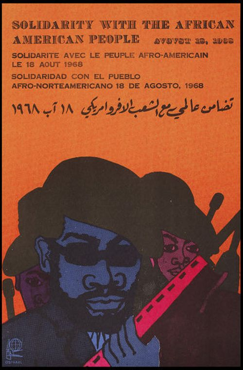 Solidarity with the African-American People poster, 18 August, 1965, OSPAAAL