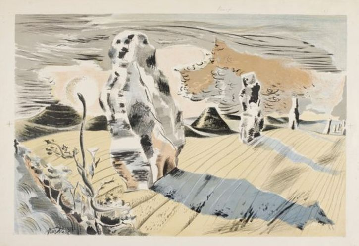 Paul Nash, Druid Landscape, 1934