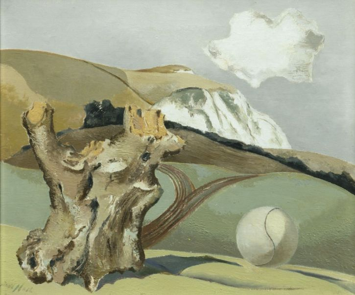 Paul Nash, Event on the Downs, 1934