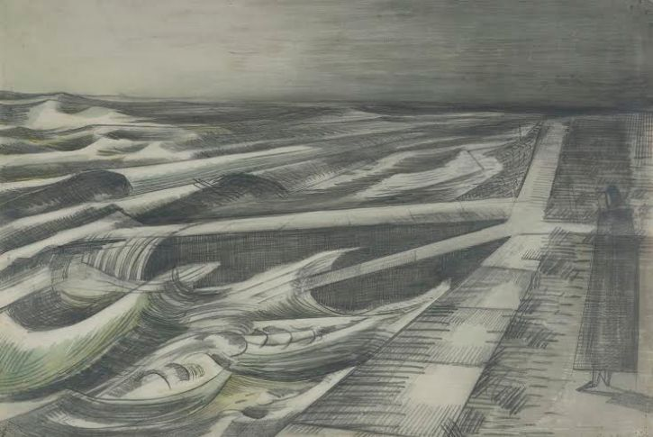 Paul Nash, Night Tide Dymchurch, 1922