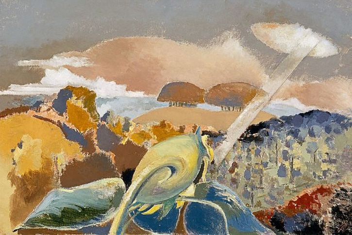 Paul Nash, Sunflower and Sun, 1942