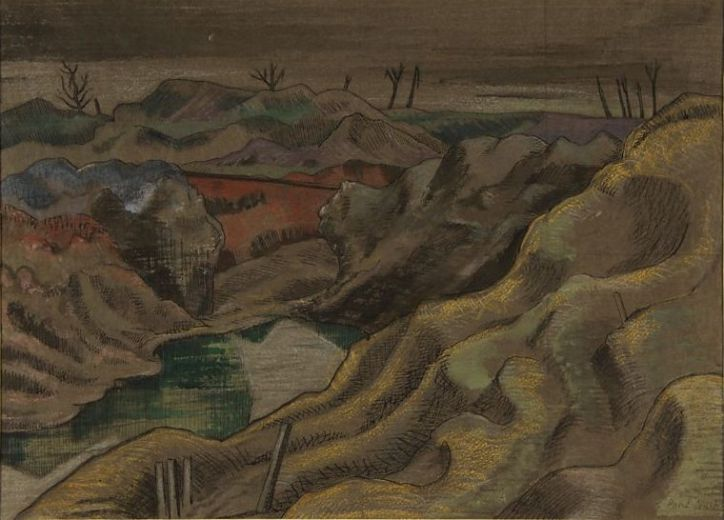 Paul Nash, The Landscape - Hill 60, 1918