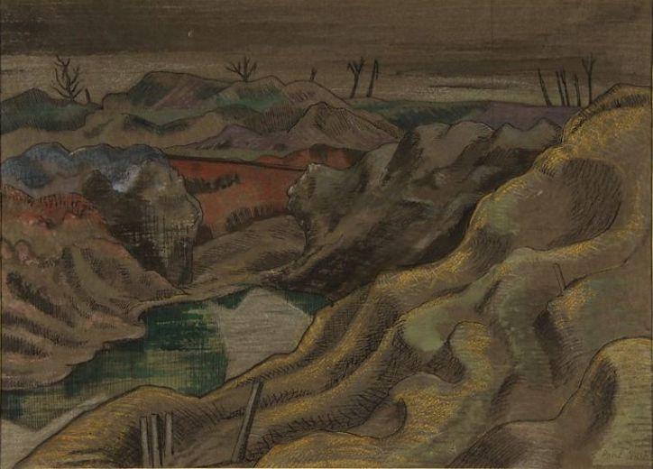 Paul Nash, The Landscape - Hill 60, 1918