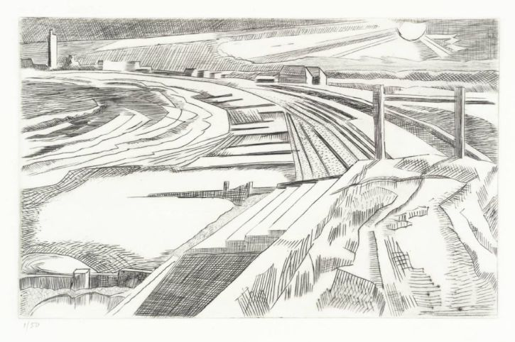Paul Nash, The Wall, Dymchurch c1923