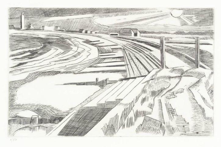 Paul Nash, The Wall, Dymchurch c1923