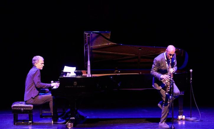 Brad Mehldau and Joshua Redman at the Barbican (photo by Roger Thomas)