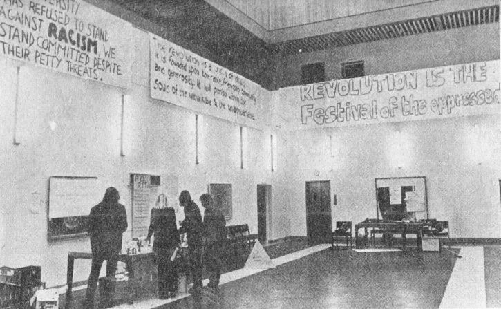 'Revolution is the Festival of the Oppressed', Liverpool Senate House anti-apartheid protest, 1970