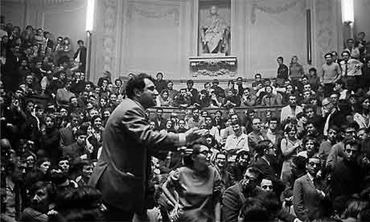 Sorbonne University is occupied by students, May 14 1968
