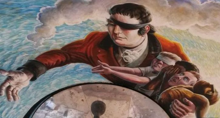 Edward Rushton, as depicted in the Mick Jones mural