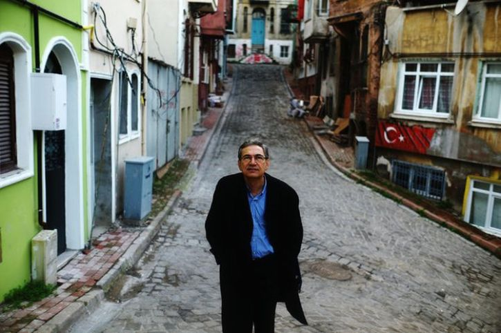 Orhan Pamuk in Istanbul in 2014
