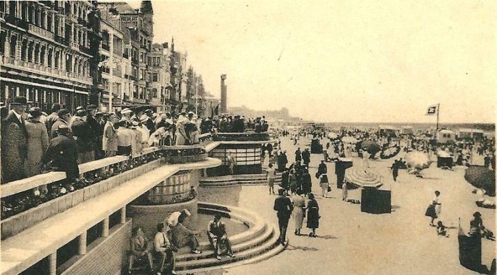 Ostend plage in 1936