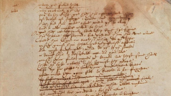 The strangers' case from Sir Thomas More in Shakespeare's handwriting (British Library)