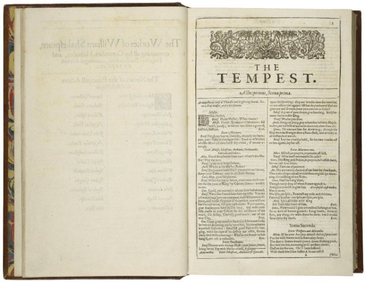 The First Folio 1623: The Tempest