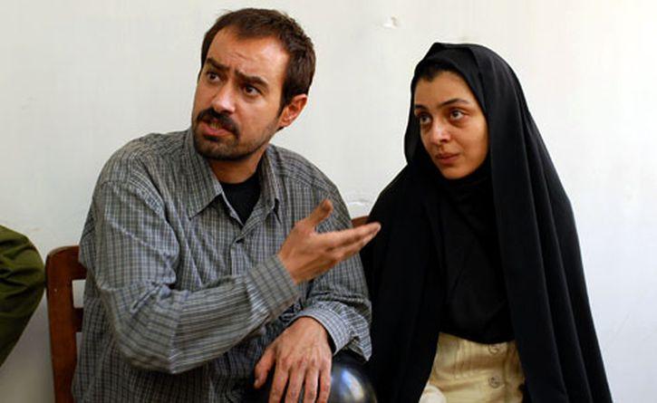 Shahab Hosseini as Hodjat and Sareh Bayat as Razieh in A Separation