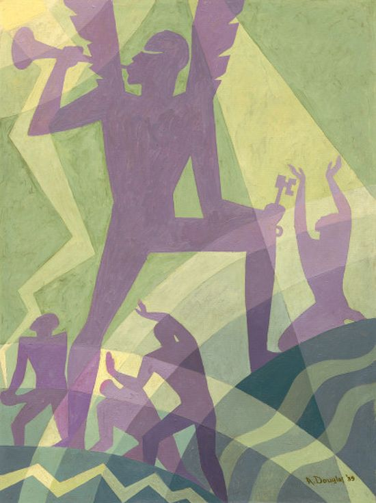 Aaron Douglas, The Judgment Day, 1939