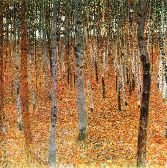 Gustav Klimt, Birch Forest 1, 1902