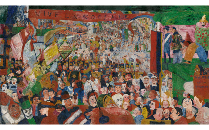 James Ensor, Christ's Entry into Brussels in 1889, 1888