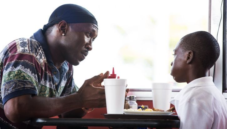 "Mahershala Ali as Juan and Alex Hibbert as Chiron in ""Moonlight"