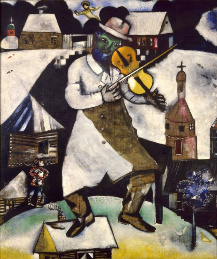 Marc Chagall. The Fiddler,1912-1913