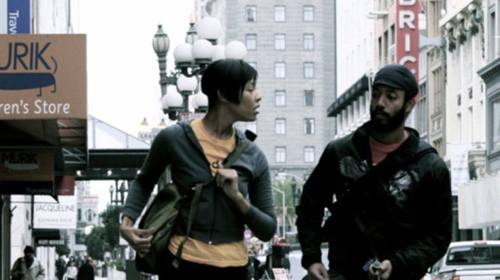 Tracey Heggins and Wyatt Cenac as Micah in Medicine for Melancholy