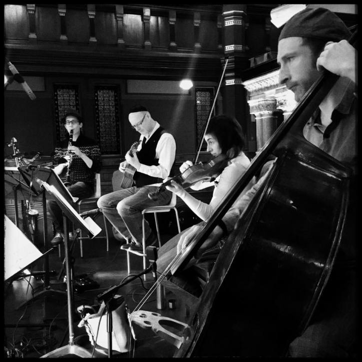Klezmer-ish at the Princes Road synagogue (photo by Tom Bowles via band's Facebook page)