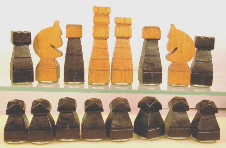 A chess set carved by a German POW in WW2 - similar to, but not the one given to my dad