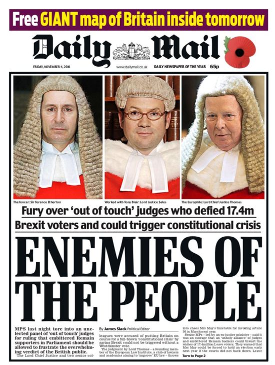Daily Mail, 4 November 2016