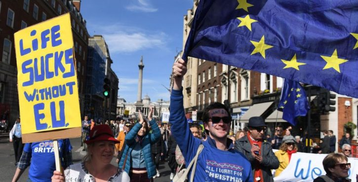 The March for Europe in London last weekend