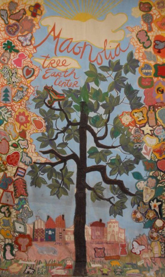 Magnolia tapestry at the Magnolia Earth Centre