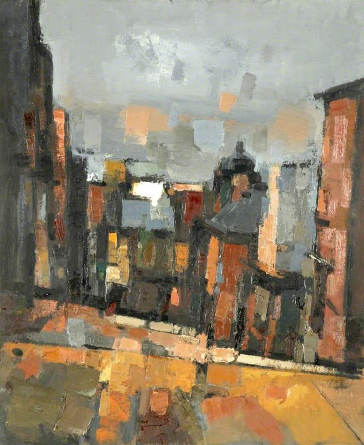 Nicholas Horsfield,Mount Street, 1957