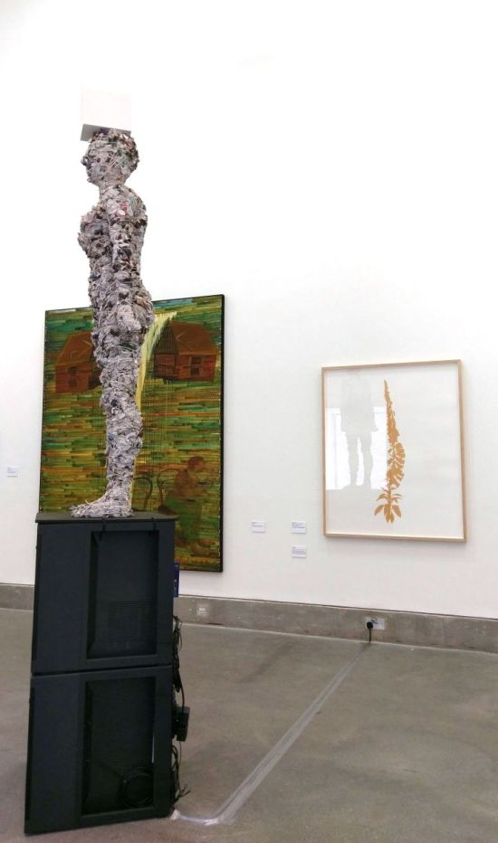 Edward Chell, Foxglove, 2013 (right) and Lin Holland, Guardian, 2017