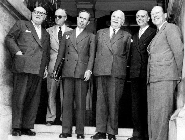 The leaders of the Six at the Messina Conference