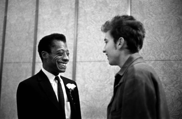 James Baldwin and Bob Dylan, 13 December 1963