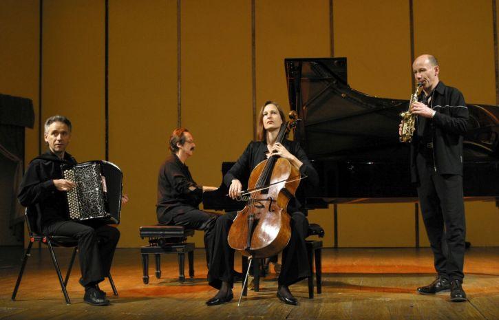 The Tarkovsky Quartet: Jean-Louis Matinier, François Couturier, Anja Lechner, and Jean-Marc Larché